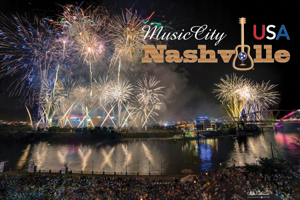 Largest Fourth of July Fireworks Show in America in Nashville, Tennessee